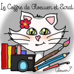 Illustration d'anniversaire et badge des 25 ans surprise - le coffre de Scrat et Gloewen, couture, lecture, DIY, illustrations...